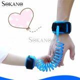 SOKANO 1.5M Adjustable Kids Safety Anti-lost Wrist Band Toddler Harness Leash Strap- Blue