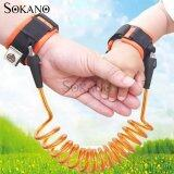 SOKANO 1.5M Adjustable Kids Safety Anti-lost Wrist Band Toddler Harness Leash Strap- Orange