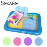 SOKANO 2kg Coloured Play Sand With Container Molds And Inflatable Tray-Blue Toys for boys