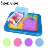 SOKANO 2kg Coloured Play Sand With Container Molds And Inflatable Tray-Purple Toys for boys