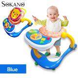 SOKANO 3 in 1 Baby Walker, Baby Dining Seat cum Baby Toddler Walk Assistance - Blue
