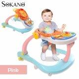 SOKANO 3 in 1 Baby Walker, Baby Dining Seat cum Baby Toddler Walk Assistance - Pink