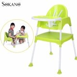 SOKANO 3 in 1 Multipurpose Convertible Kid Dinning Seat cum Kid Study Table and Chair Set - Green