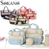 SOKANO 5 in 1 Mummy Essential Diaper Bag- Light Blue (Free Home