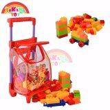 SOKANO Educational Toy 96Pcs Building Blocks with Trolley- Red Toys for boys