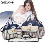 SOKANO GANEN 6 Pcs Set Mummy Fashion Tote Bags- Dark Blue
