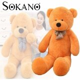 SOKANO Giant 100cm Bear Plush Soft Toy Birthday Present Best Gift - Design A Scarf Bear toys for girls