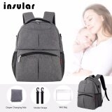 SOKANO Insular 10016 Baby Diaper Bag Mummy and Daddy Backpack - Grey