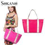 SOKANO MB1001 Multifunctional Baby Diaper Nappy Storage Organizer Tote Bag Handbag Mummy Bag - Rose Red