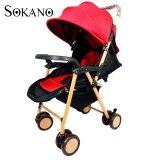 SOKANO Premium 618 Luxuries High View Stroller- Maroon