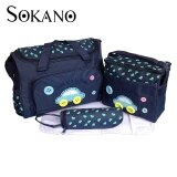 SOKANO Premium Cutie Large Capacity Diaper Bag 4 pcs Set- Dark Blue