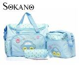SOKANO Premium Cutie Large Capacity Diaper Bag 4 pcs Set- Light Blue