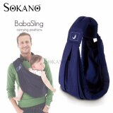 SOKANO The BabaSling 5 in 1 Baby Carrier- Free Your Hand with 5 Natural Positions - Dark Blue