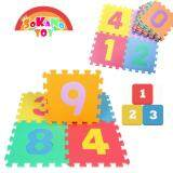 SOKANO TOY 29cm x 29cm EVA Foam Kid and baby Crawling Puzzle Play Mat- Number Design (10 Pcs) toys education