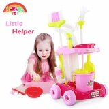 SOKANO TOY 667 XL Size Little Helper Housekeeping Game with Trolley - Pink toys for girls