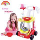 SOKANO TOY 667 XL Size Little Helper Housekeeping Game with Trolley - Red toys for girls