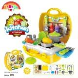 SOKANO TOY 8311 Kitchen Cooking Food Kids Role Play Pretend -Yellow toys for girls