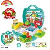 SOKANO TOY 8314 Organic Food Cashier Kids Role Play Pretend -Mint Green toys for girls
