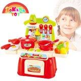 SOKANO TOY 889 Cook Happy Mini Kitchen Play Set - Red toys for girls