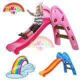 SOKANO TOY Mini Foldable Children Slide for Indoor and Outdoor (Extra Long Pathway) - Pink toys for girls