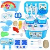 SOKANO TOY Mini Rabbit Fun Kitchen Playset Kid Toy with Full Utensils Set- F001 Blue toys for girls