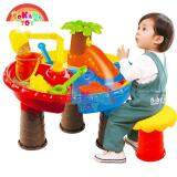 SOKANO TOY Sand and Water Table Indoor Outdoor Beach Toy- 9826 Mini Slide Design Toys for boys kids toys