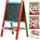 Sokano Wooden Portable 2-in-1 Blackboard and Whiteboard Easel Set toys for girls