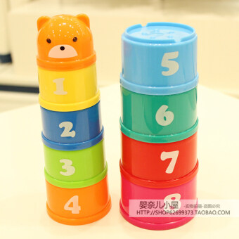 Special baylor kang baby child baby circle rainbow tower piles ofmusic piles cup toy