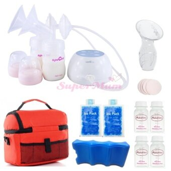 Spectra M1 Portable Double Electric Breast Pump Value Package