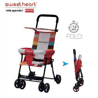 Sweet Heart Paris BG203 (Red) One Second Folding Portable BabyBuggy Stroller