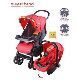 Sweet Heart Paris ST757N Easy Folding Mechanism Travelling System Stroller (Red)