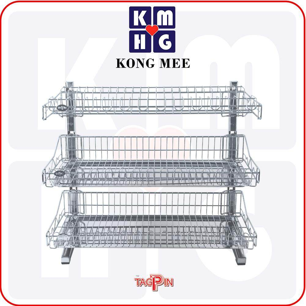 Tagpin - High Quality Stainless Steel 304 Dish Rack with FREE GIFT (TPBLS5603)  Premium Drying Dishes Cooking Storage Accessories Dapur Masak Makan Rak Kering Pinggan Kitchen Basin Basket Home Living FIxtures Furniture Cook Chef Wash Dishes Luxury