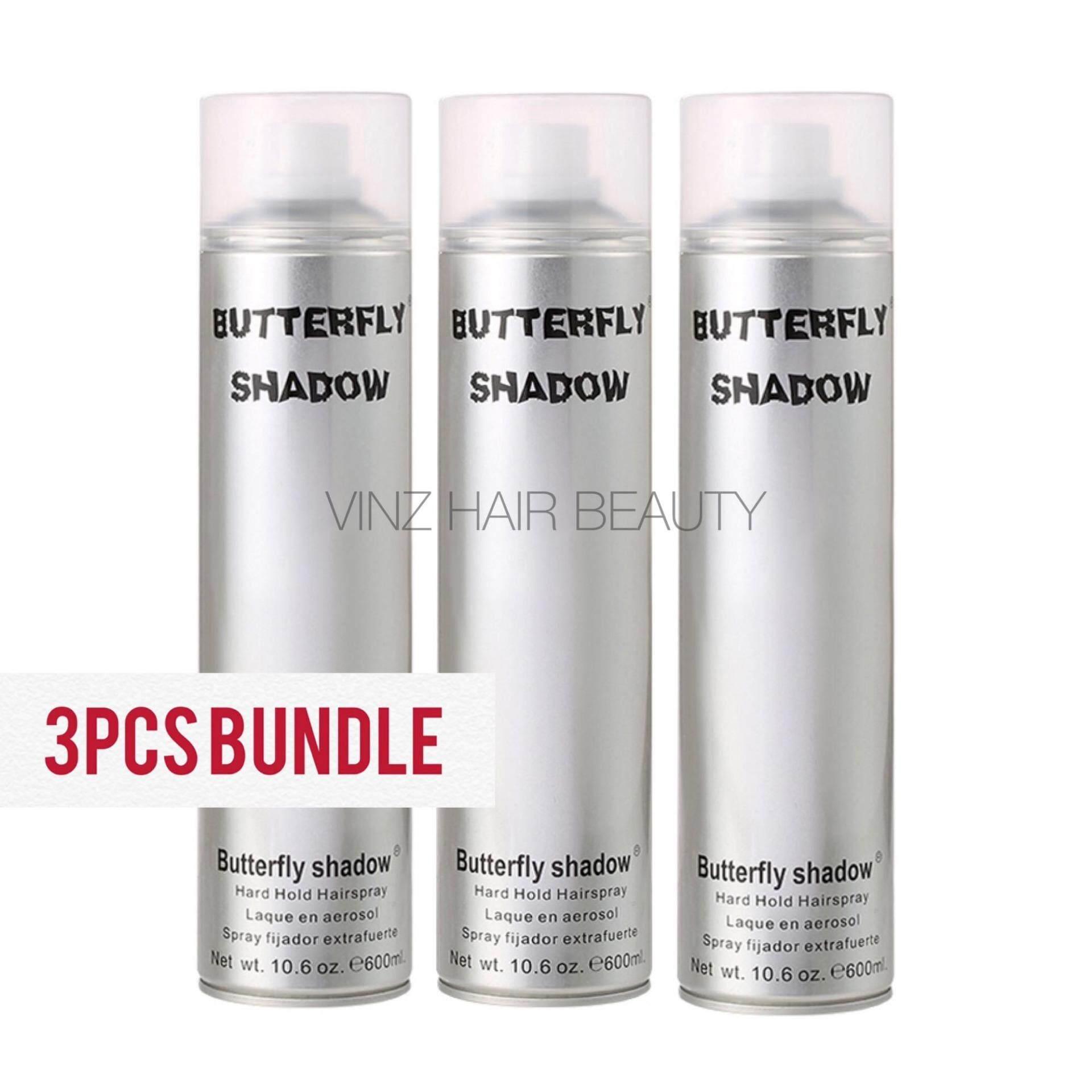 3PCS BUNDLE Butterfly Shadows Hairspray 600ml