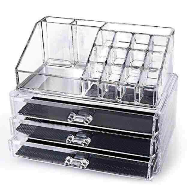 Makeup Organiser Cosmetic Tray Multi-Function Storage Box