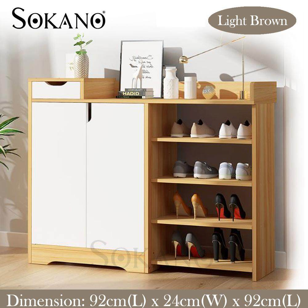 SOKANO N93 Artic Style Multi Layer Shoe Rack Simple Household Cabinets With Multifunction Drawer Storage Shelf Shoe Cabinet Console Close Shoe Storage