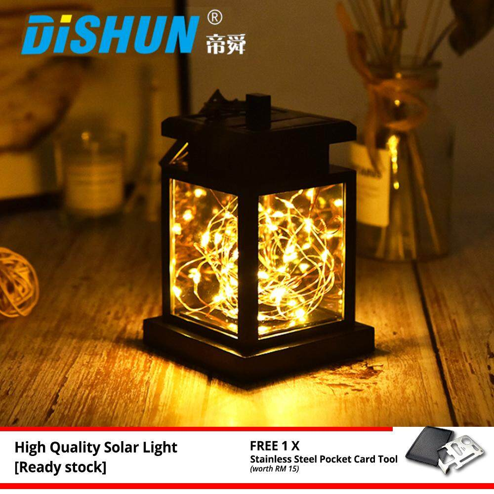 Garden Solar LED Light Waterproof IP65 Estatic Design Outdoor Deco Lantern Warm Lights