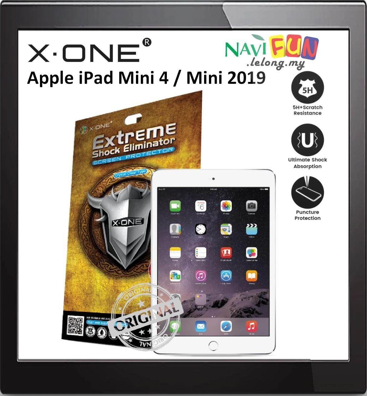 X-One® Extreme Shock Eliminator Screen Protector Apple iPad Mini 4 / mini 2019
