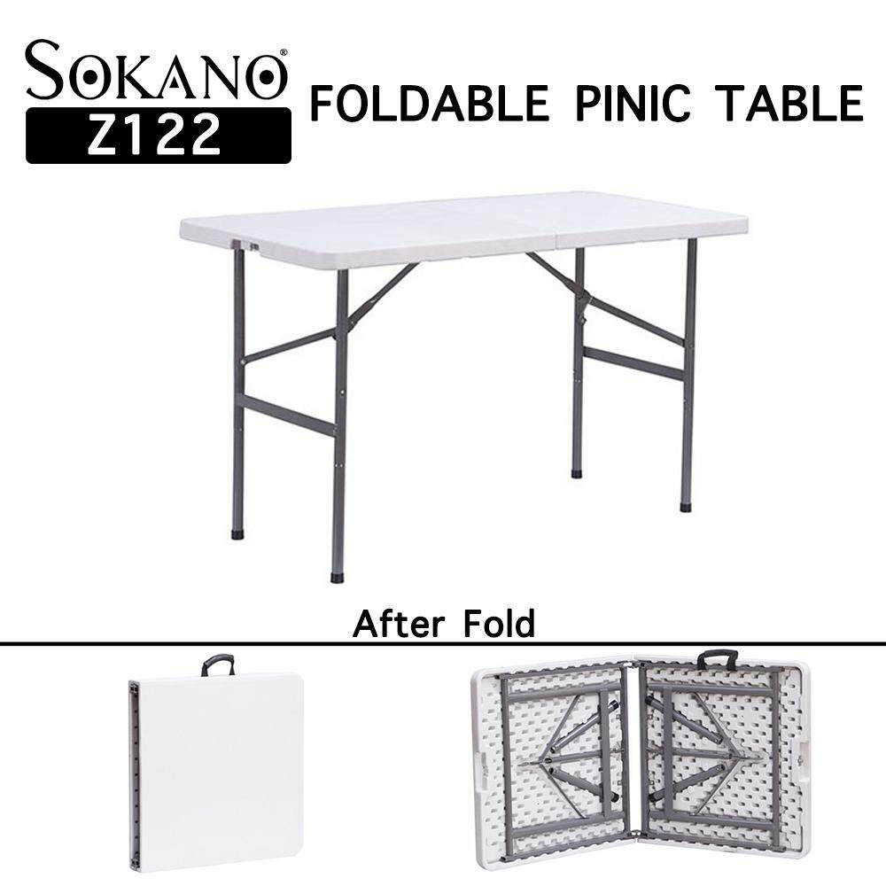 SOKANO Z122 Foldable Banquet Table Function Catering Buffet Hall Folding Table Picnic Table Meja Lipat Banquet Niaga