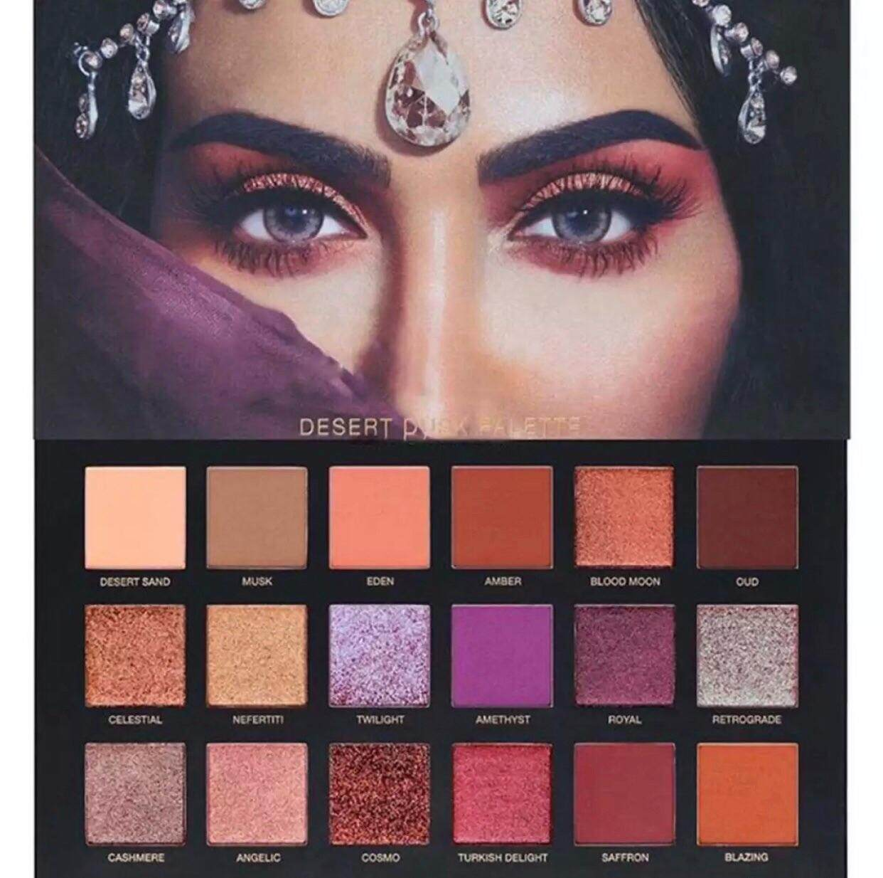 Huda Desert Dusk Eyeshadow Palette Set Makeup Cosmetic Eye Shadow