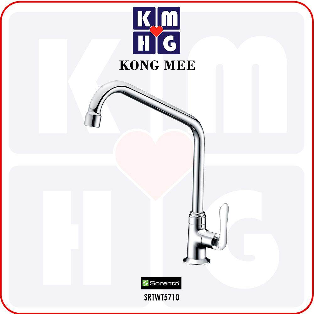 Sorento Italy - Eggshell 5700 Series Pillar-Mounted Sink Tap (Counter-top Basin Faucet) (SRTWT5710) Kitchen Top Counter Restaurant Home Wash Dishes Water Soap Faucet Clean Pipe Food Cook Chef Premium Modern Luxury High Quality Long Lasting