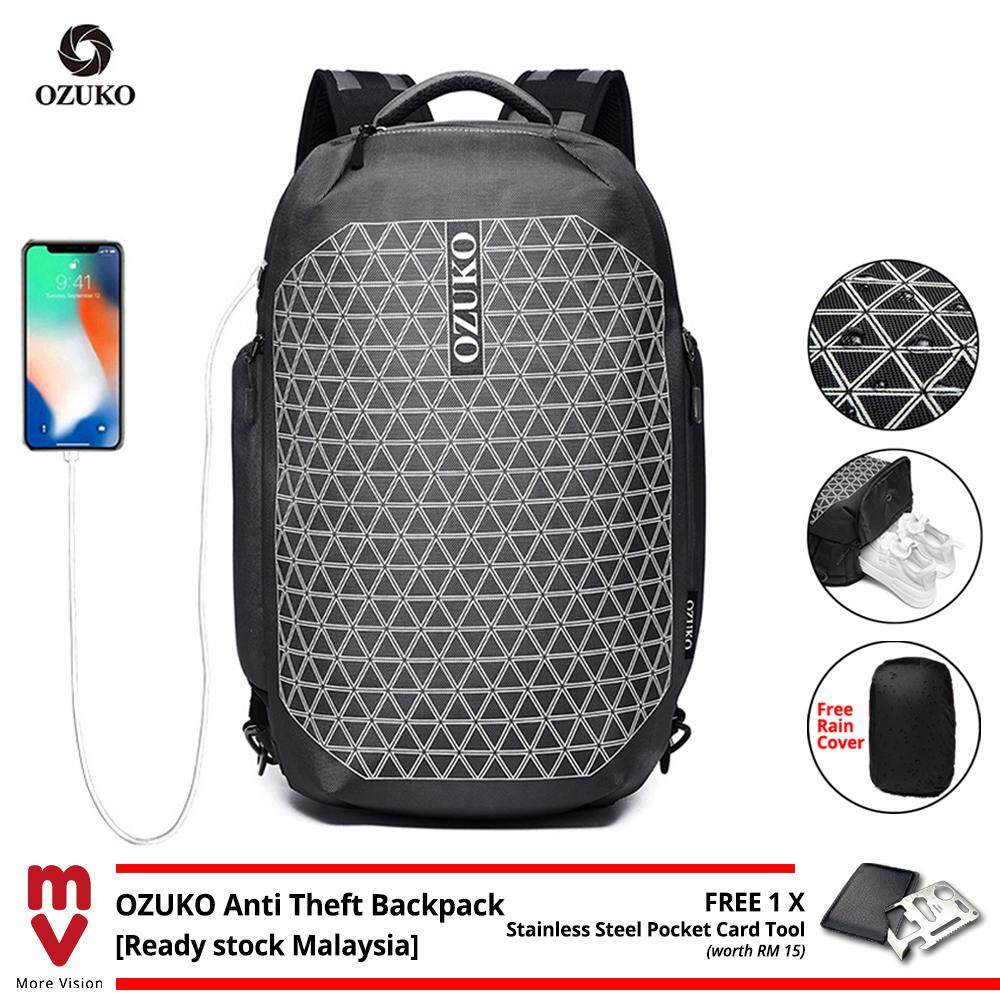 OZUKO Backpack Anti Theft for Traveler Laptop Bag with USB Charging Men 15.6 Waterproof Travel Beg School Bagpack MI5603