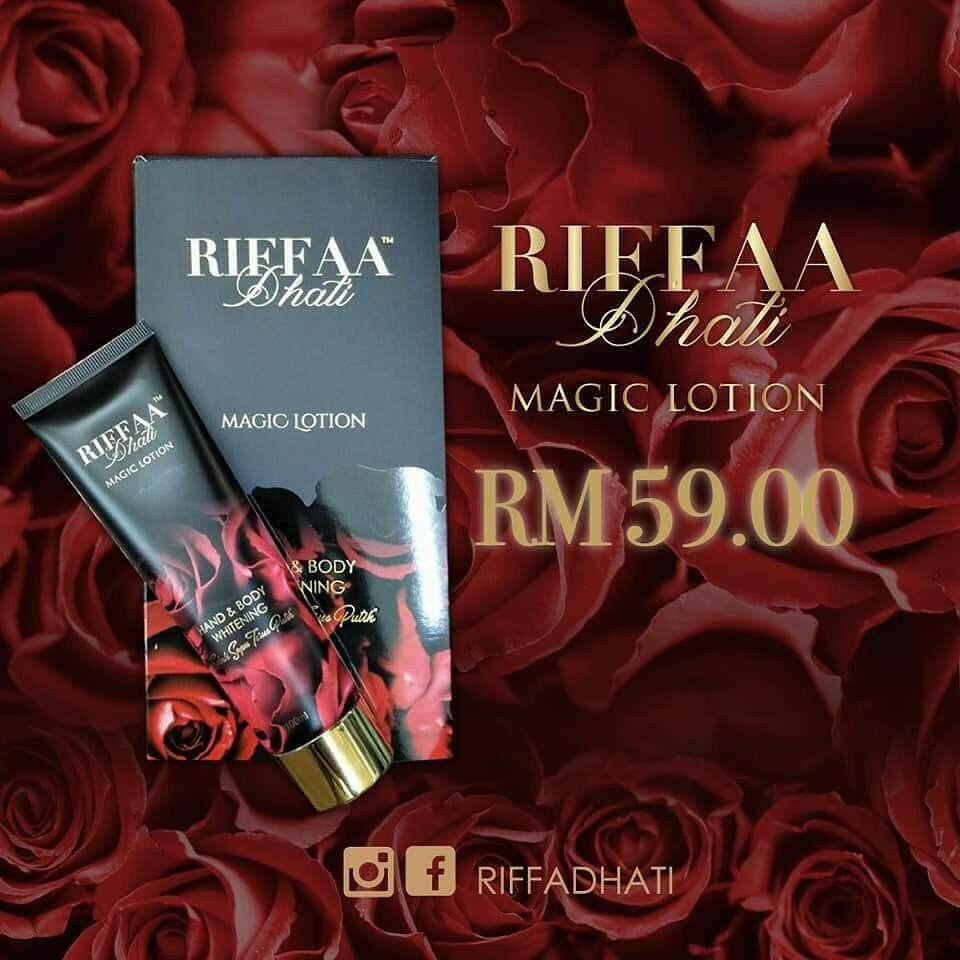 RIFFAA Dhati - NEW MAGIC LOTION (Hand & Body Whitening) 100 ml with FREE GIFT