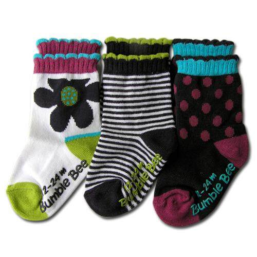 Bumble Bee Girl Socks Twin Pack (S0052XL and S0058XL) + FREE GIFT (HLM0015)