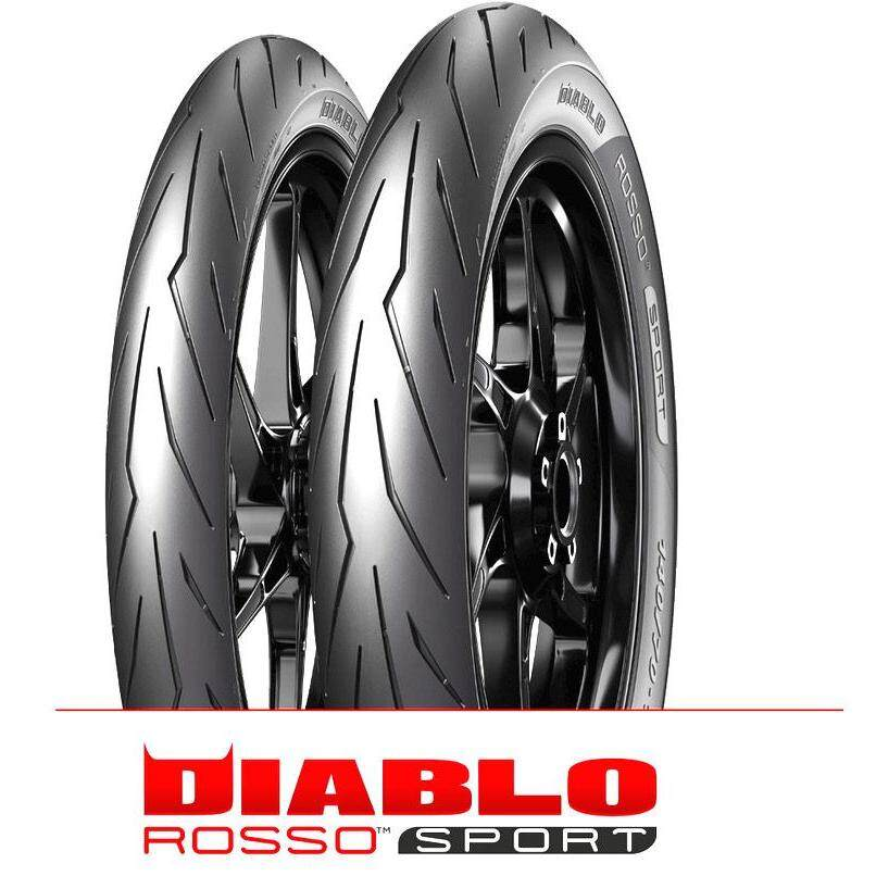 Original Pirelli Diablo Rosso Sport Tubeless Tyre 80/90-17
