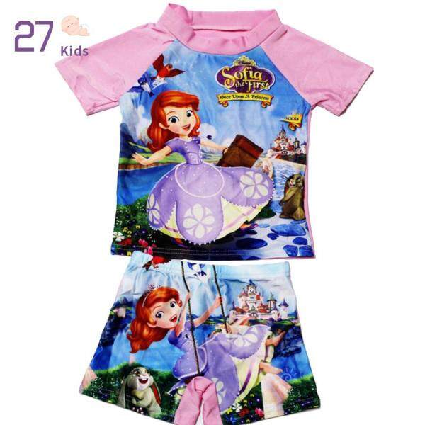 Nơi bán Áo Tắm Trẻ Em Hoạt Hình 27, Áo Tắm Hai Mảnh Cho Bé Gái + Quần, Đồ Bơi Hồi Giáo