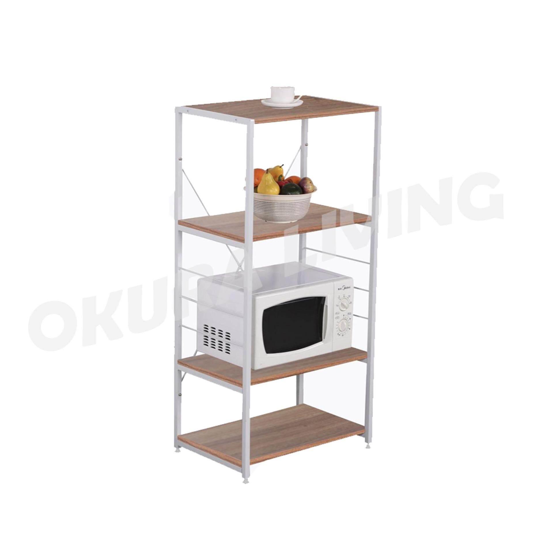 OKURA 4 Tier Multipurpose Kitchen Shelf Home Living