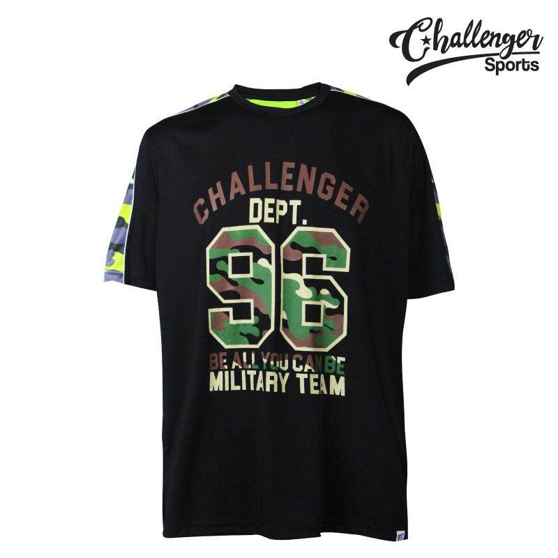 CHALLENGER BIG SIZE Airforce T-shirt CH1020 (Black)
