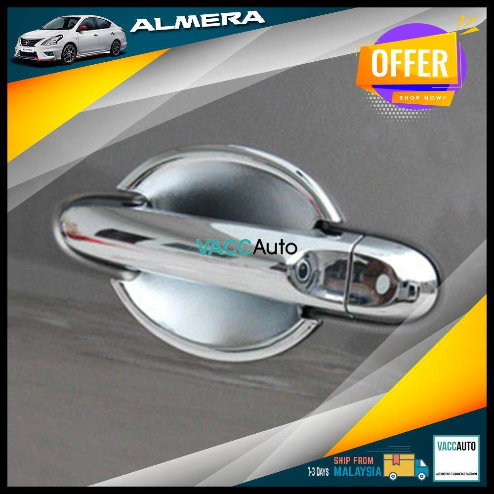 Nissan Almera 2011 - 2019 Outer Chrome Handle Vacc Auto Car Styling Accessories Exterior Car Body Trim
