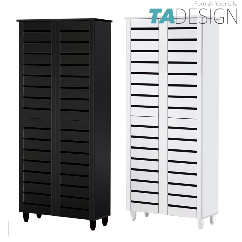 TAD BELLA 4 door high wooden shoe rack cabinet