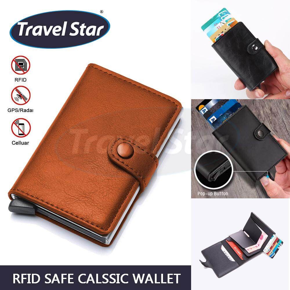 TRAVEL STAR SKN921 Travel Wallet RFID Blocking Wallet Safe from RFID Scan Credit Card Holder Cash Holder Pocket Size Wallet PU Leather Wallet